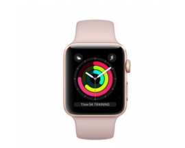 APPLE WATCH 3 GPS 42MM GOLD ALUMINIUM CASE WITH PINK SAND SPORT BAND MQL22QL/A