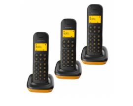 TELEFONO INALAMBRICO ALCATEL D135 TRIO NEGRO NARANJA ATL1415995
