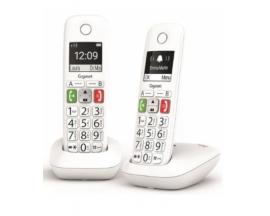TELEFONO FIJO INALAMBRICO GIGASET E290 DUO TECLAS GRANDES Y PANTALLA DE ALTA VISIBILIDAD 150 CONTACTOS BLANCO L36852-H2901-D202