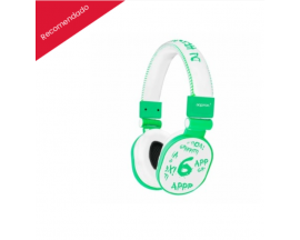 AURICULARES APPROX DJ HEADPHONES GRAFFITI LIGHT GREEN APPDJGLG*