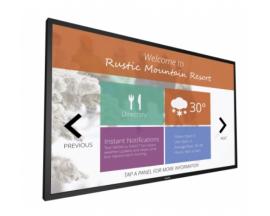 Pantalla interactiva multitoque philips signage solutions pantalla de señalizacion digital 54.6p negro