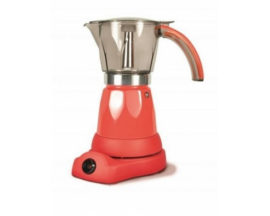 Cafetera italiana electrica commodore sistema siempre caliente jarra transparente 6 tazas roja CM 1017