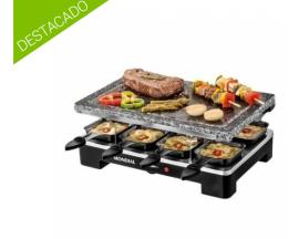 Mondial plancha de piedra grill + raclette le gourmet 1400w negro