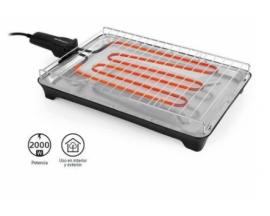 Barbacoa electrica de sobremesa orbegozo bc 3660 2000w amplia superficie de coccion apagado automatico